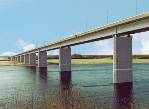 Мостовое пролетное строение через р. Малую Северную Двину у гор. Котлас Архангельской области