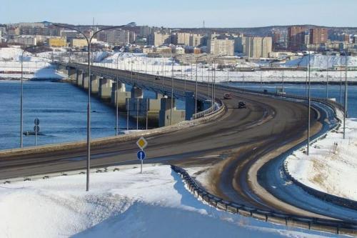 Мост через Кольский залив под Мурманском, северное исполнение