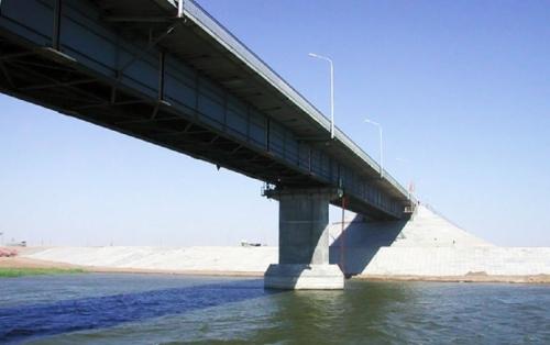 Мост через реку Кигач в Астраханской области