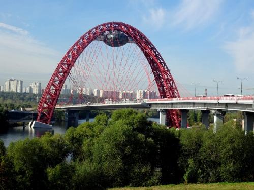 Вантовый мост через р. Москва (Серебряный Бор - Крылатское)